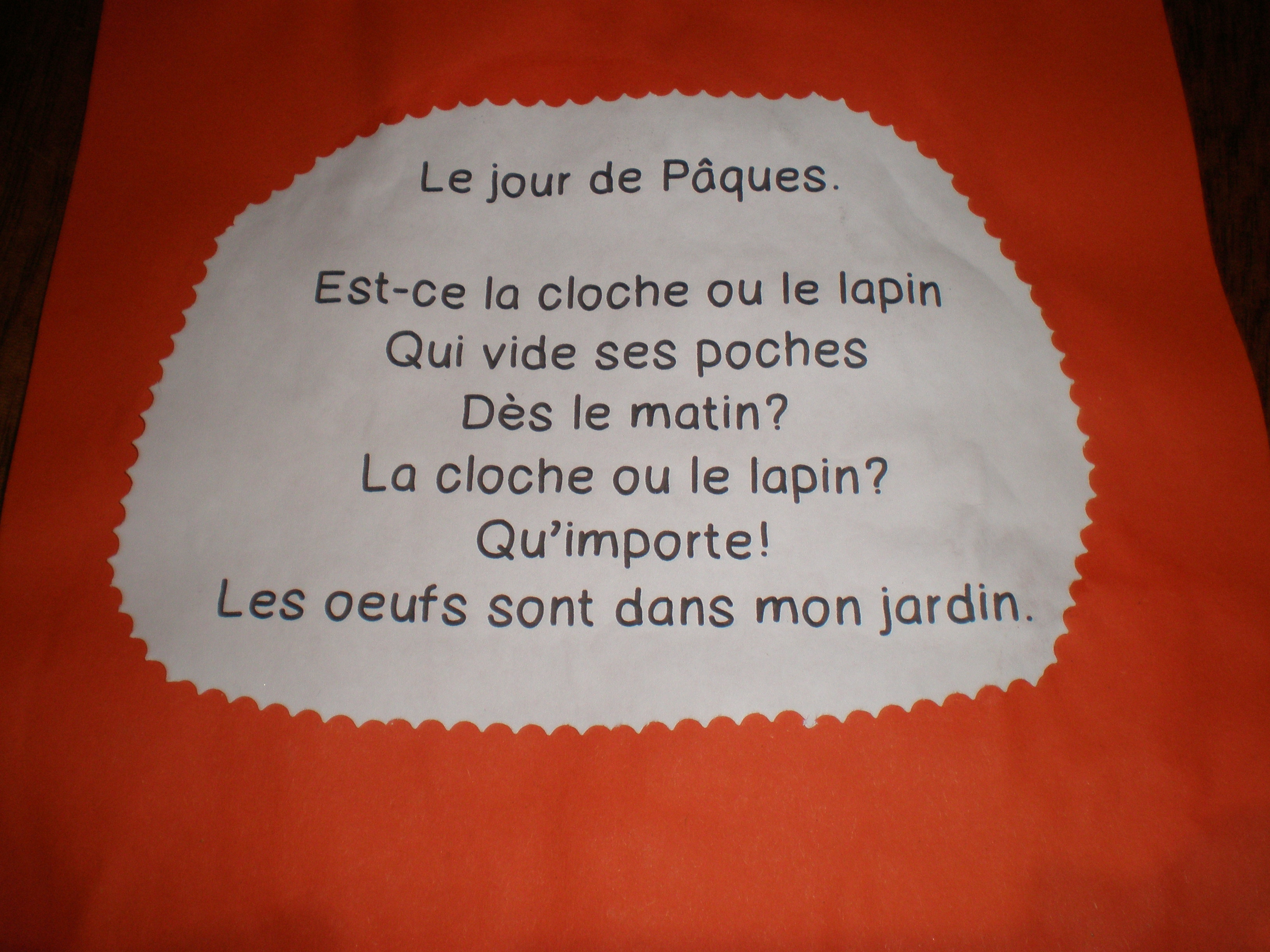 Pâques Madame Delphine